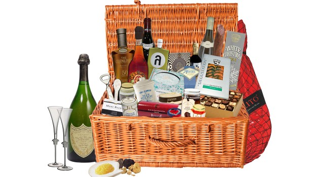 Luxury Christmas hamper with royal bubbly worth $135K