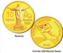 Brazilian gold 10 reals