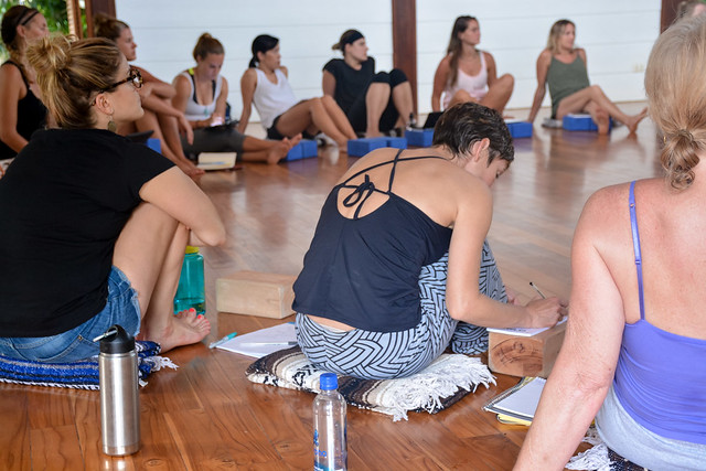 Taking Notes during Immsersion Yoga Teacher Training