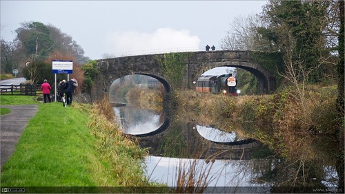 bridge ireland reflection train canal photographers rail maynooth kildare steamloco rpsi no461