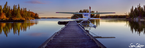 lake fall plane sunrise fishing dock sean manitoba float schuster priaire