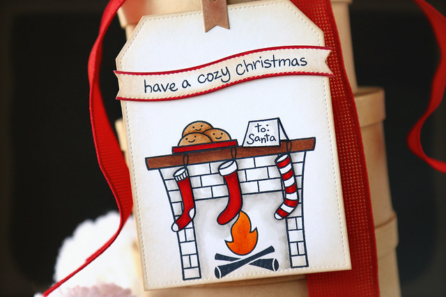 by the fire...25 days of Christmas tags guest post