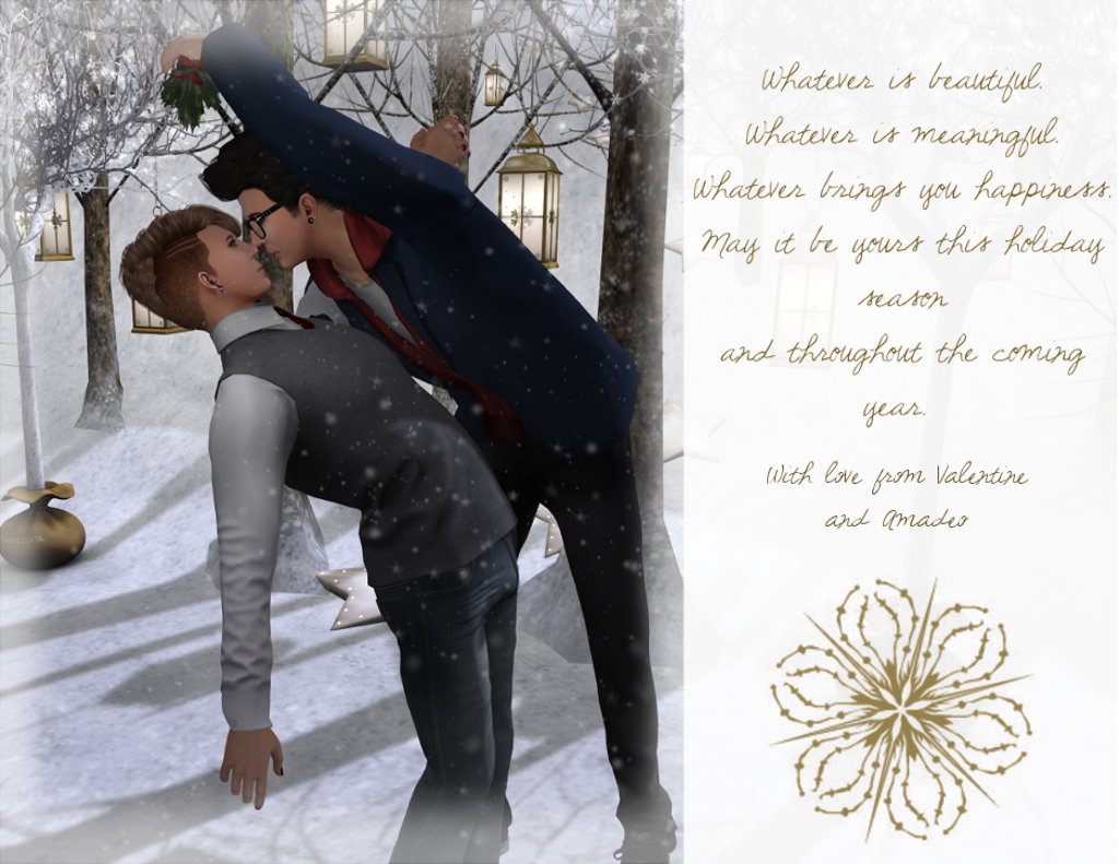 Happy Holidays from Val and Ama