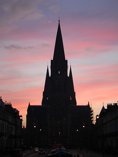 Kuva Robert Viscount Melville. autumn sunset weather silhouette architecture clouds edinburgh cathedral stonework 2014 melvillestreet