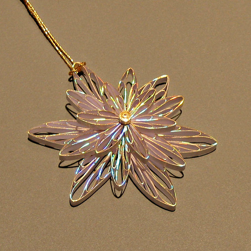 quilled gilded flower pendant tutorial by Ann Martin