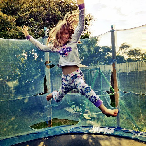 Zoe. Christmas morning trampolining....