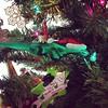 Christmas lizard on the tree let's me know tis the season!