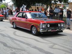 executive car(0.0), compact car(0.0), automobile(1.0), automotive exterior(1.0), family car(1.0), vehicle(1.0), ford xy falcon gt(1.0), antique car(1.0), sedan(1.0), land vehicle(1.0),
