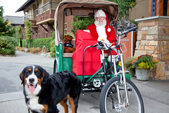 Santa with Dog at Willows Lodge