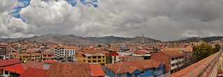 Cusco Panorama from Hotel Warwari Rooftop Patio