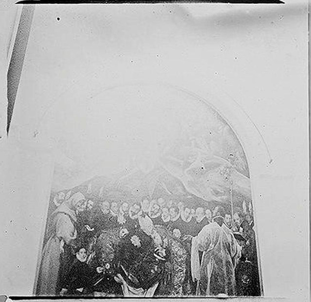 Cuadro del entierro del señor de Orgaz hacia 1900. Fotografía de Augusto T. Arcimis © Fototeca del IPCE, MECD. Signatura ARC-0735_P