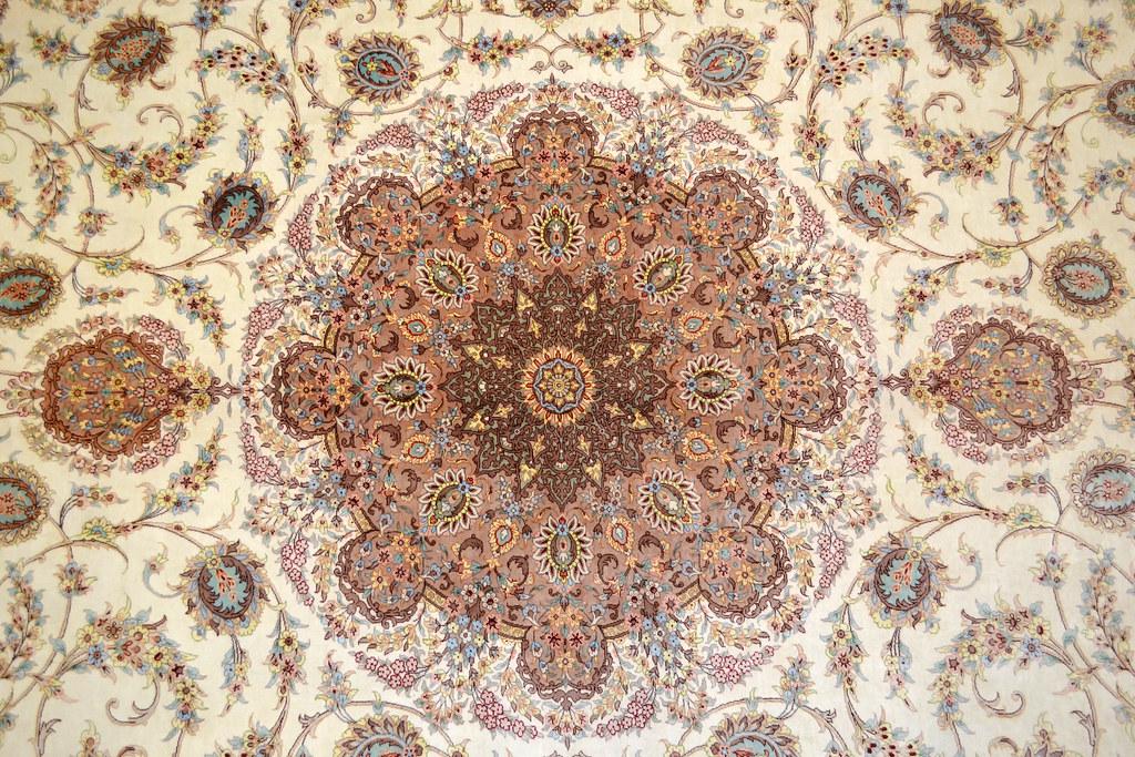 Qum Pure Silk 7x10 Persian Rug (7)