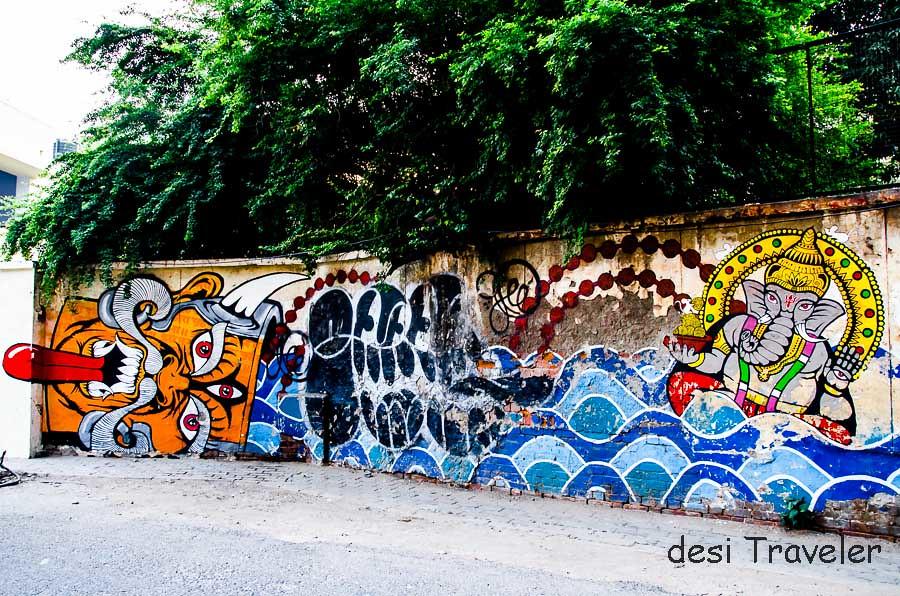 Street Art Ganesha Agrasen Ki Baoli