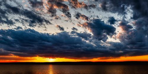 blue sunset sky orange oklahoma unitedstates grove grandlake powerful groveoklahoma