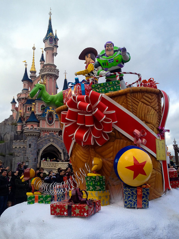Toy Story in the Christmas Parade