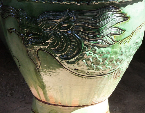 Dragon pot in the pottery village on Inle Lake, Myanmar