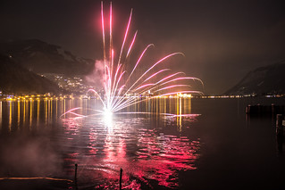 Fireworks On A Lake
