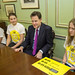 UK Deputy Prime Minister Nick Clegg meets with 15 of Britain's top 15 year-old youth campaigners to launch the global campaign action/2015.