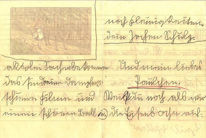 Sütterlin Sütterlinschrift Kurrent Kurrentschrift alte deutsche Schriften Brief Kinderbrief 1936 entziffern Transkription Brigitte Stolle