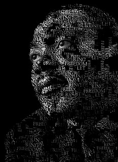 MLK Speech Text Portrait