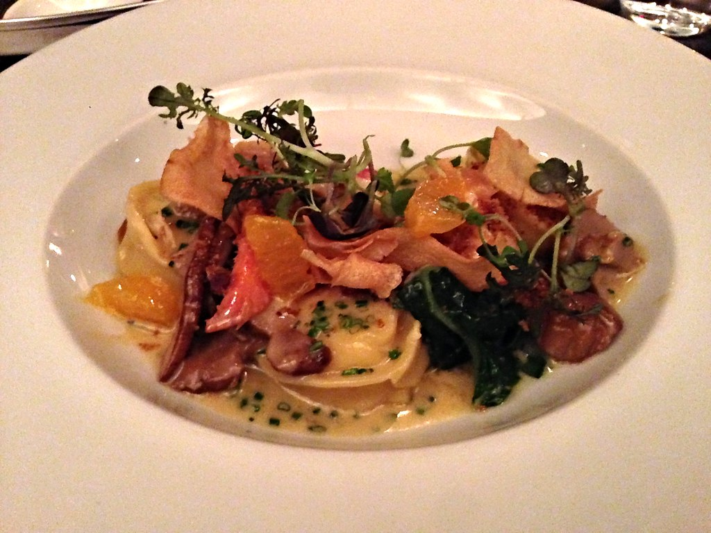 Cappelletti with parsnip and lobster