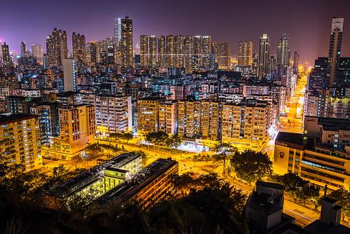night landscape hongkong shekkipmei gardenhill pentaxfa31mmf18limited 石硤美 嘉頓山