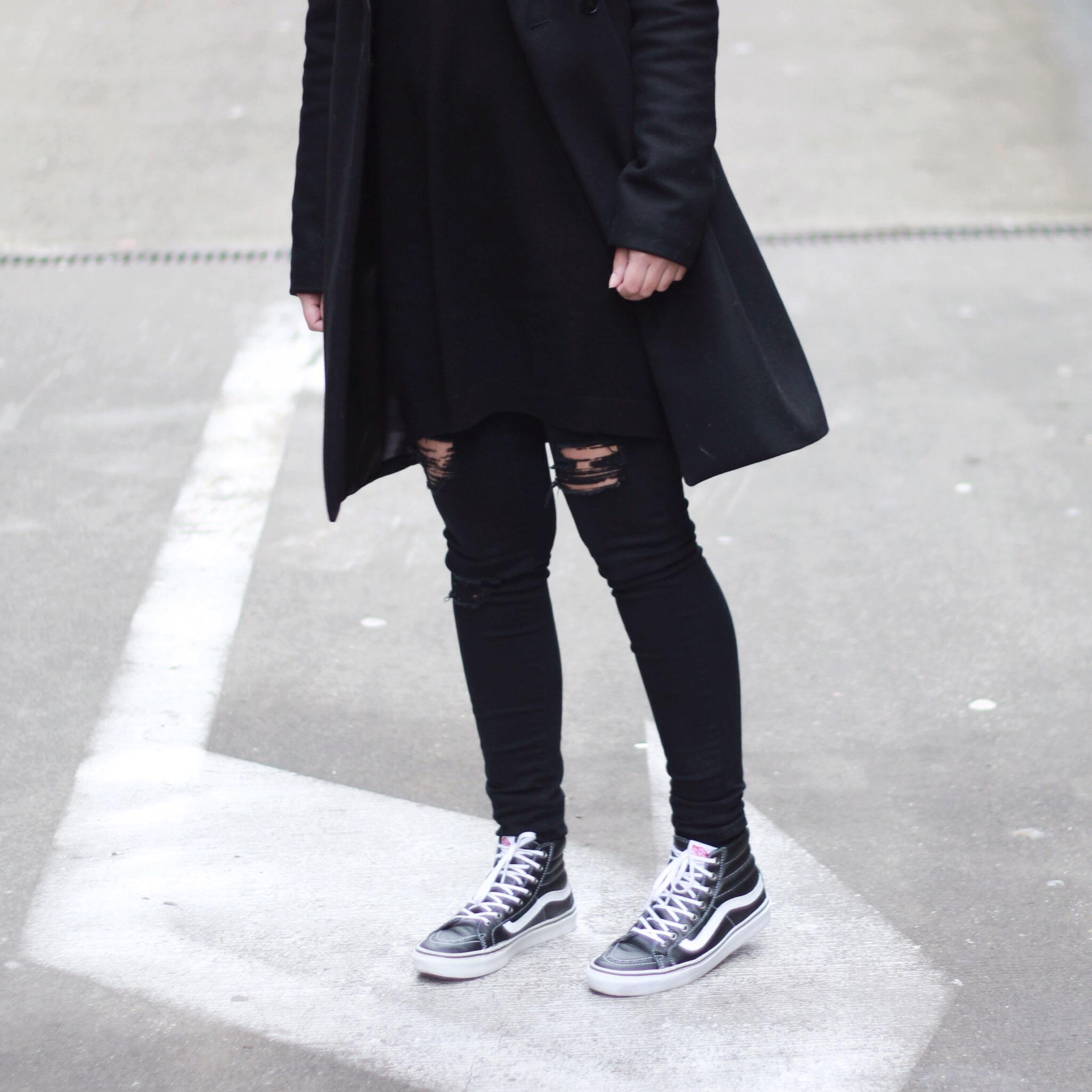 Vans sk8 hi sneakers outfit