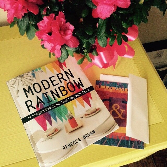 Thank you to all for happy words! And thank you to @ctpublishing for the pretty flowers and card! #modernrainbow