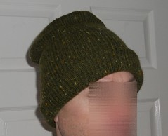 olive green hat