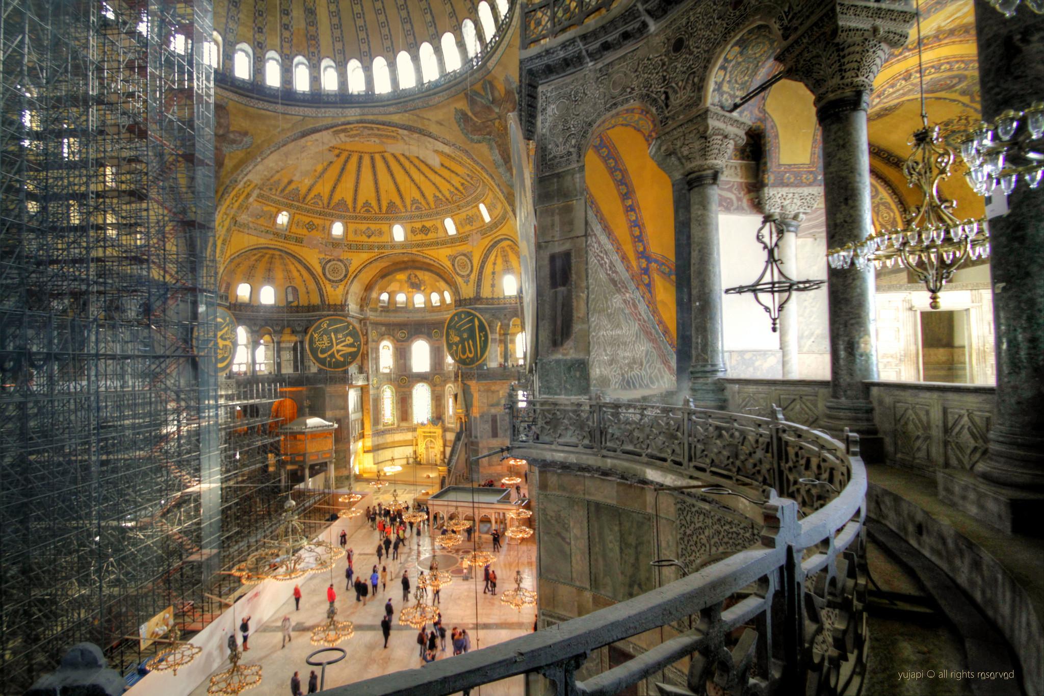 Hagia Sophia museum, Istanbul, Turkey [2048x1365] by ...