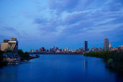bridge sunset boston skyline river twilight newengland charles bluehour bu pw