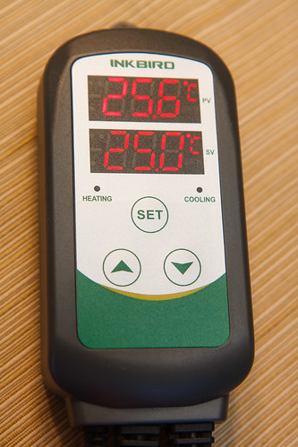 the Inkbird ITC-308 Temperature Controller has two lcd display lines