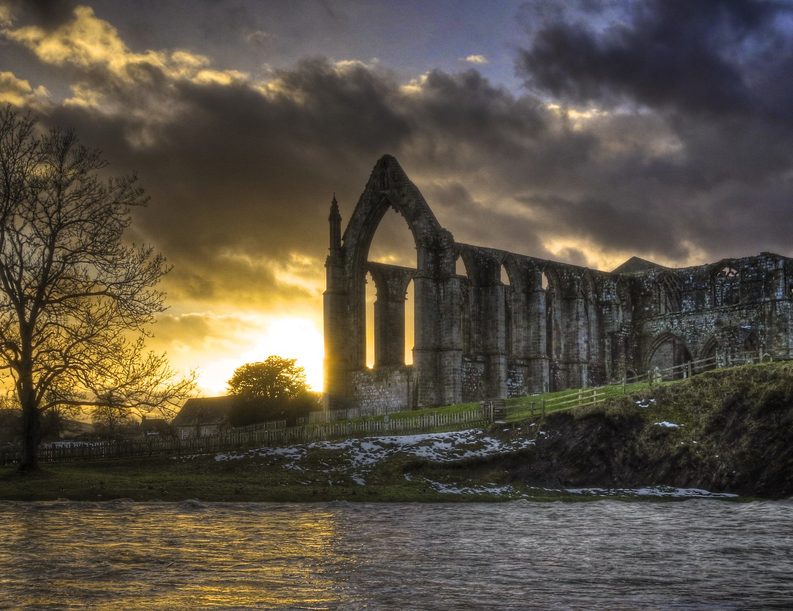 Bolton Abbey Sunset. Credit Matt Smith