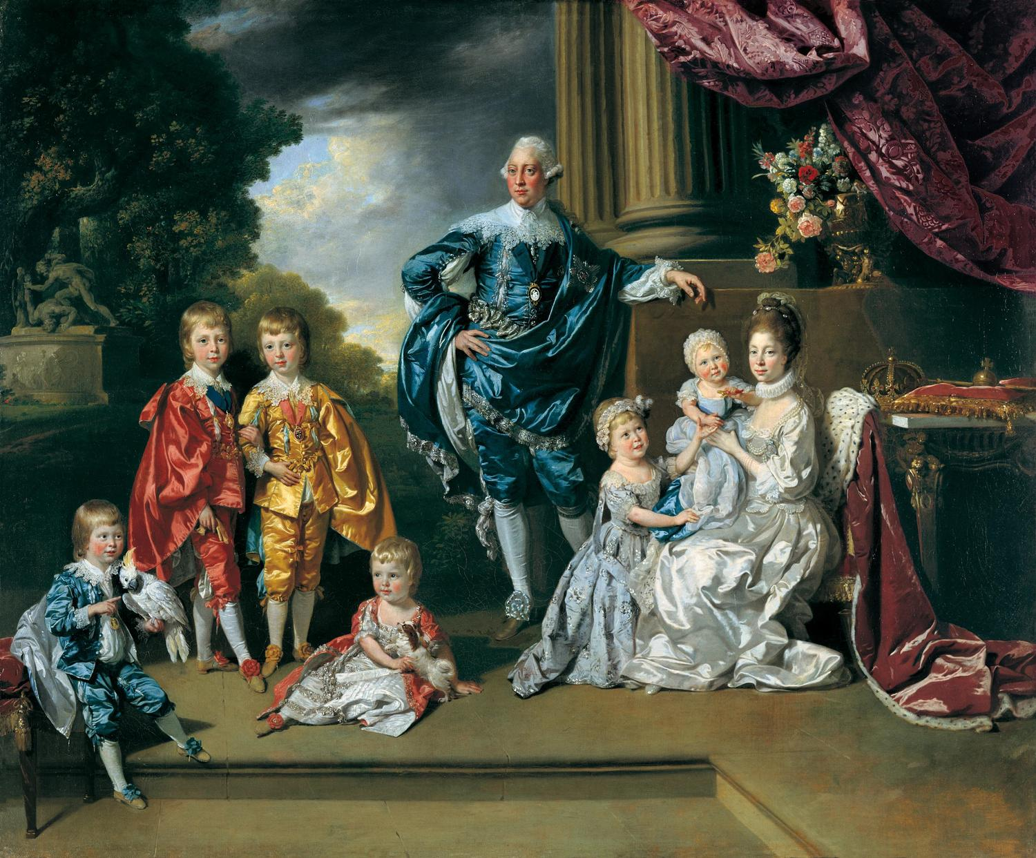 George III, Queen Charlotte and their Six Eldest Children by Johan Zoffany, 1770
