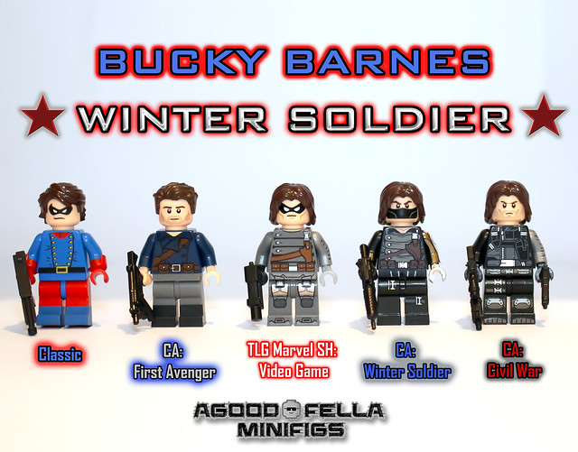 Bucky Barnes / Winter Soldier [VARIANTS] [CUSTOM] [MOC] [MCU]