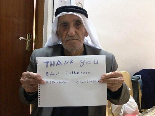 Yaqub Mati tiene 85 años y es uno de los cristianos que pudo escapar de la masacre del Estado Islámico en la llanura de Nínive. Estaba perdiendo la vista.