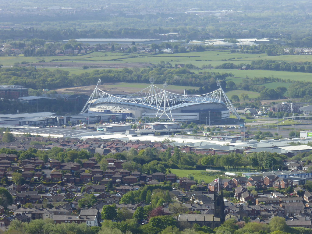 Bolton FC Stadium (Macron Stadium) from Rivington Pike