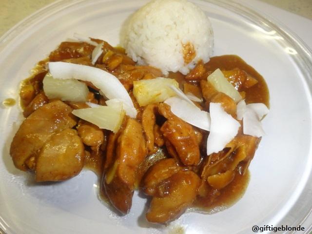 Hendl-Kokos-Ananas- Reis