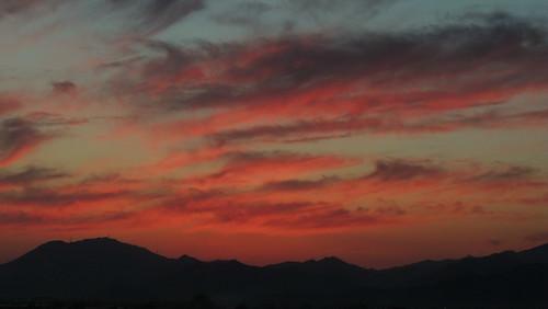 november sunset landscape busan southkorea pusan 2014 gimhae