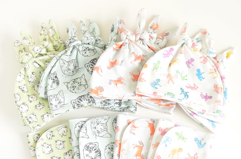 Organic Cotton Baby Hats & Burp Cloths