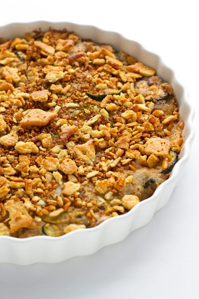 Cheesy Zucchini Yellow Squash Casserole