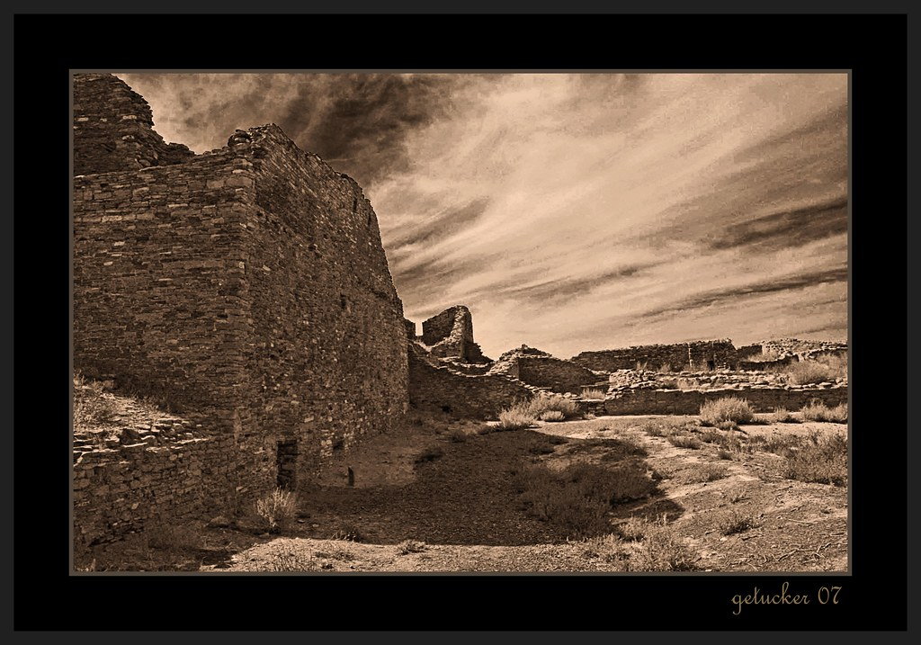 Ruins at Chaco Canyon