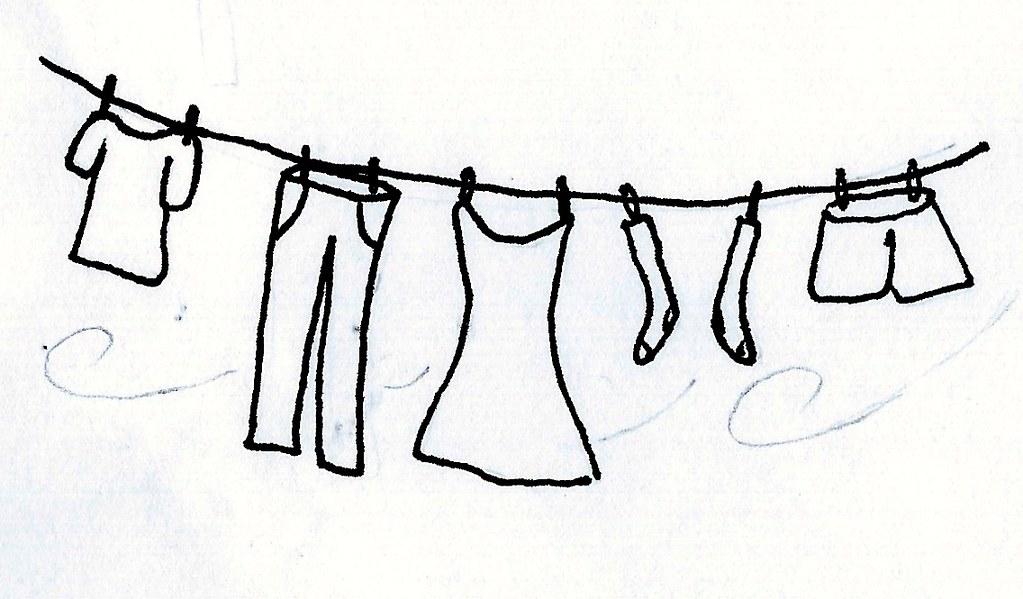 Line Drawing Dress : Washing line drawing