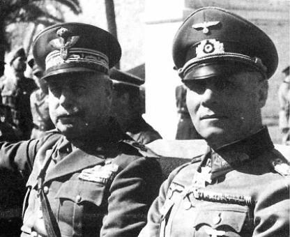 Italo Gariboldi y Erwin Rommel