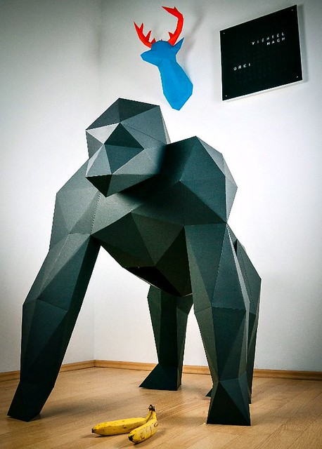 PaperTrophy Giant Gorilla on Indiegogo