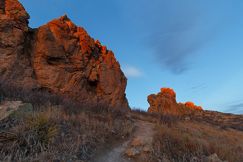 morning rock sunrise landscape colorado loveland trail devilsbackbone