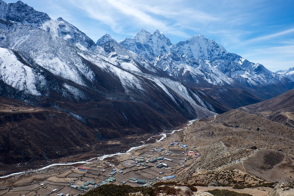 View From Peak Above Dingboche Second Time