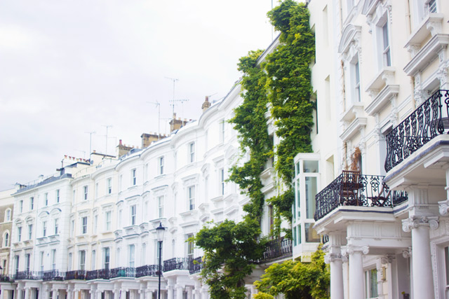 Pretty houses in Notting Hill West London