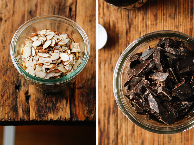 Almonds and dark chocolate