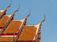 Gable apex on roof Temple in Thai style2